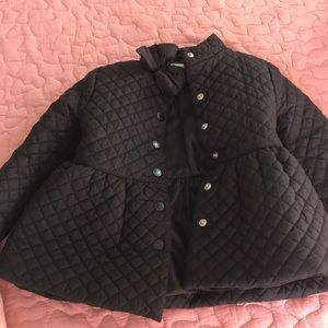 Janie and Jack quilted black coat